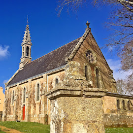 Quimper by Dobrin Anca - Buildings & Architecture Places of Worship ( green, street, church, brittany, building )