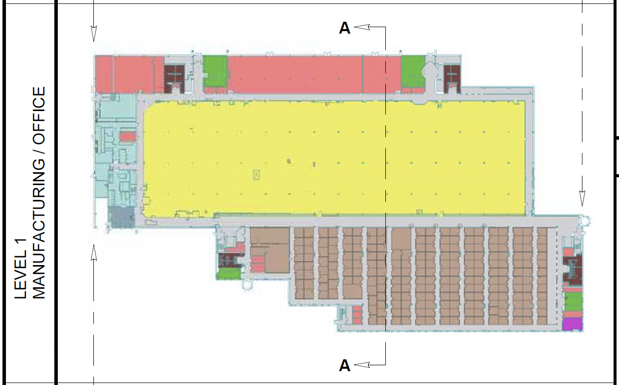 Level 1 Floorplan of Building 334