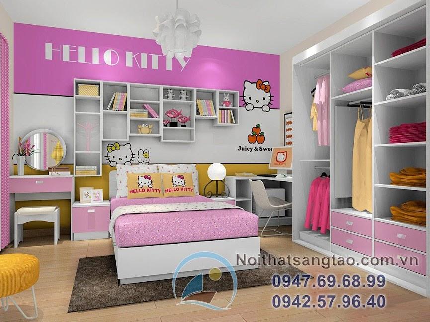 thiết kế phòng ngủ bé gái đẹp 9