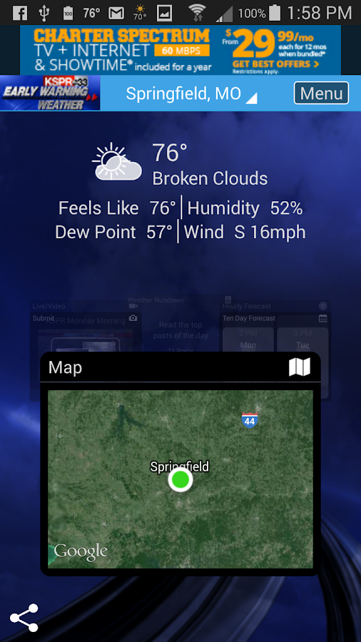 KSPR Weather- screenshot
