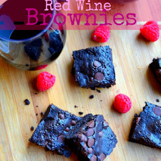 Dark Chocolate Red Wine Brownies [[Deadbolt Winery]]