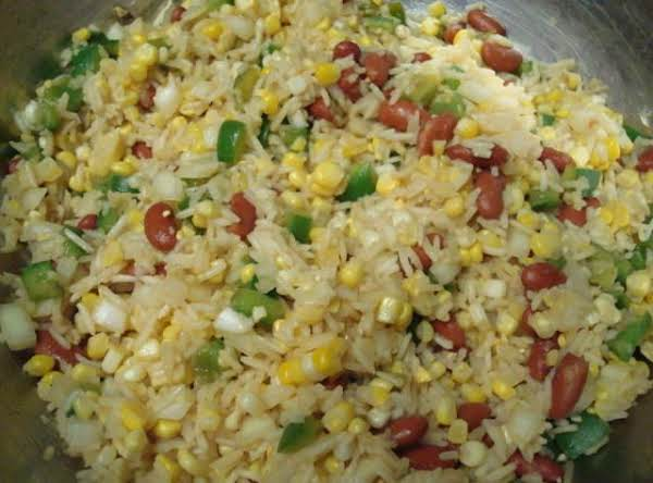 Rice Salad With Corn And Kidney Beans