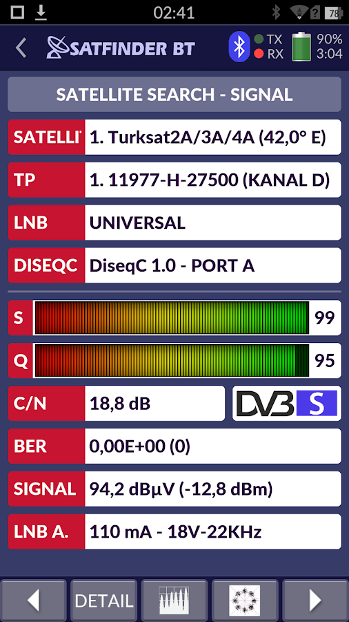 SATFINDER BT DVB-S2 - Android Apps on Google Play