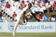Kagiso Rabada of South Africa sends down a delivery during day 3 of the 2nd Castle Lager Test match between South Africa and Pakistan at PPC Newlands on January 05, 2019 in Cape Town, South Africa.
