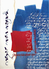 """Photo: drawing-gum, acryliques, calame et automaticpen sur toile, """"noyer mon regard"""" , 60x40 ---- acrylics on canvas """"drown my eyes"""""""