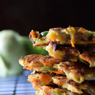 Kohlrabi, Carrot, and Jalapeno Fritters