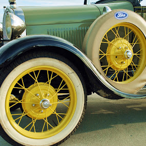 The Ford by Anika McFarland - Transportation Automobiles ( car, old, vintage, wheels, auto, yellow, ford,  )