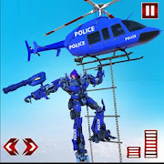 Police Helicopter Transform Robot War