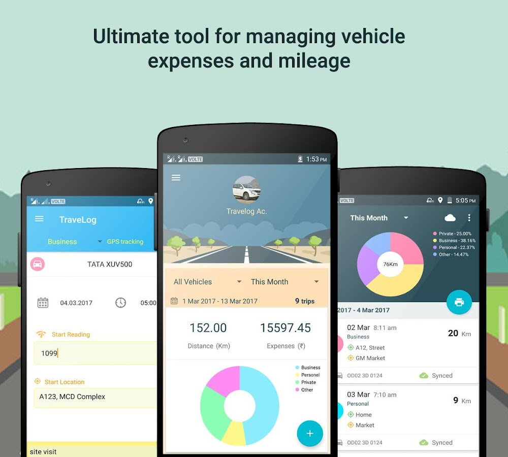 Travelog vehicle log manager screenshot