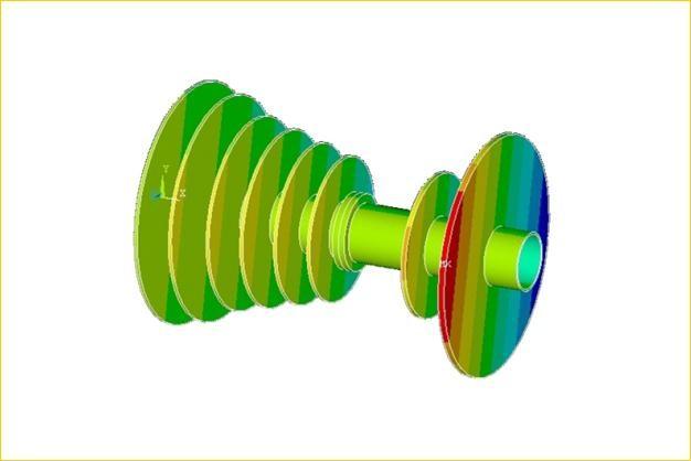 ANSYS - Расчет критических частот ротора турбины