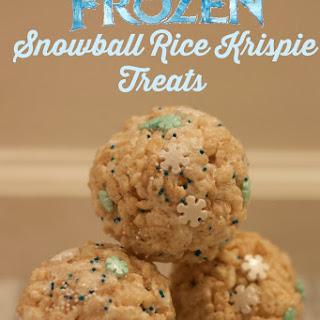 Disney Frozen Inspired Snowball Rice Krispie Treat