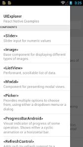 React Native UIExplorer screenshot 1