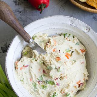 Veggie Packed Cashew Cream Cheese {Paleo & Vegan}.