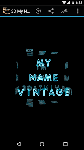 3D My Name Vintage Wallpaper screenshot 3
