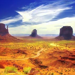 Monument Valley by Morris Fremar - Landscapes Mountains & Hills