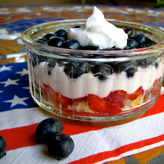 All American Red White and Blue Mini Trifles