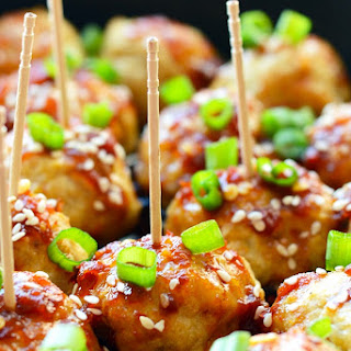Kung Pao Chicken Meatballs.