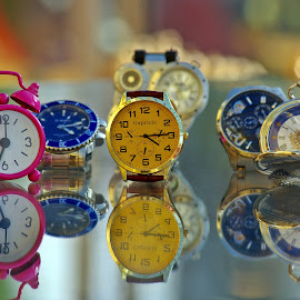 What time is it? by Ciprian Apetrei - Artistic Objects Other Objects ( reflections, brittany, artistic objects, bokeh, watches )