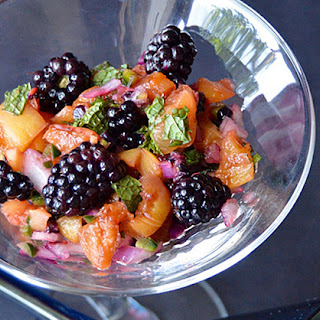 Grilled Peach and Blackberry Salsa.