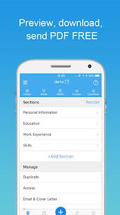 Resume Builder with PDF maker - náhled
