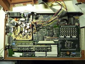 Photo: Atari TT mainboard with power supply, 2MB ST RAM card, and Catch Computer TT RAM card.
