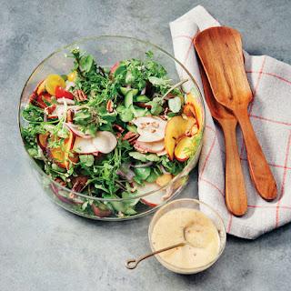 Nectarine and Watercress Salad with Tarragon-Raspberry Dressing
