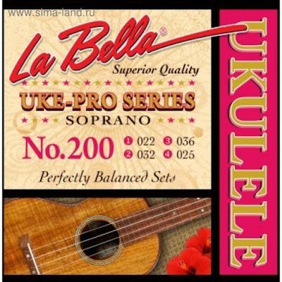 Струны для укулеле LA BELLA Set 200 Soprano - сопрано