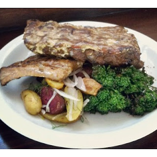 Pork Ribs with White Barbecue Sauce