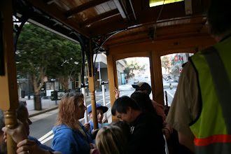 Photo: For our first ride, we rode in the indoor section. The cars have a passenger capacity of 60, 29 of them seated.