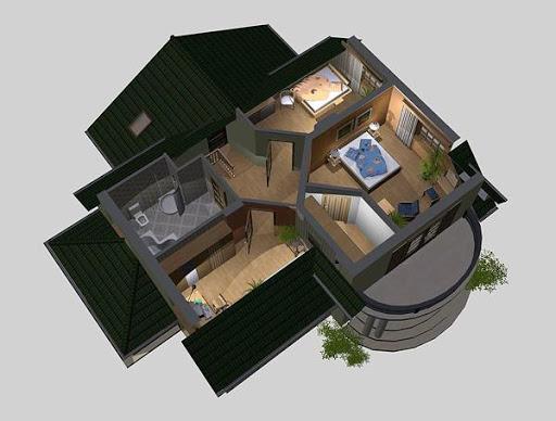 APS 078 - Rzut poddasza 3D