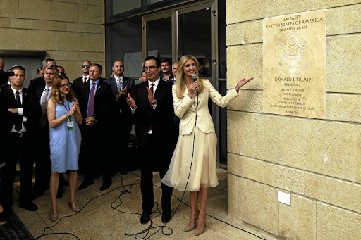Symbolic war: Senior White House adviser Ivanka Trump opens the new US embassy in Jerusalem. Picture: REUTERS