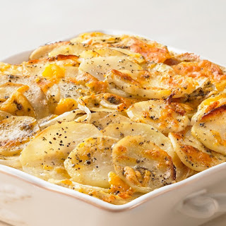 Sage and Cheddar Potato Gratin