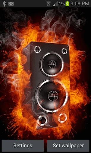 Fiery Speaker Live Wallpaper