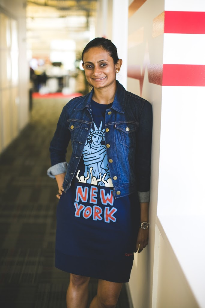 Former Head of Product at Uber, Mina Radhakrishnan, at the Wizeline HQ