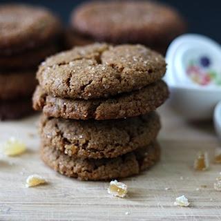 Vegan Gluten Free Gingersnap Cookies.