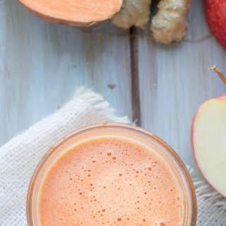 Sweet Potato Apple Ginger Juice.