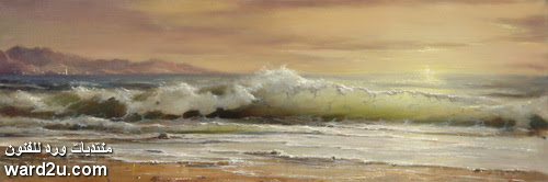 الفنان الروسي جورج ديمتريف عاشق امواج البحر