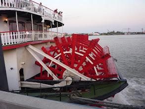 Photo: La roue du Natchez, un des derniers PC