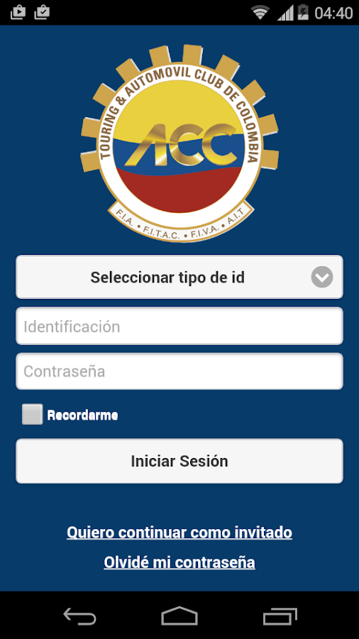 Automóvil Club de Colombia- screenshot