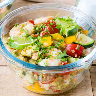 Lemony Shrimp + Quinoa Salad.