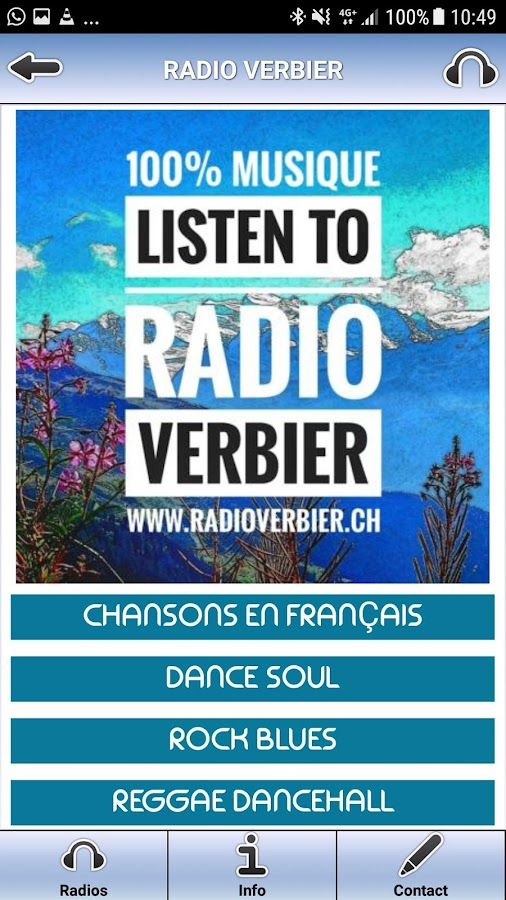 Radio Verbier – Capture d'écran