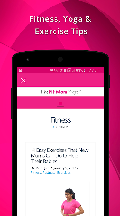 TheFitMomProject Pregnancy App- screenshot