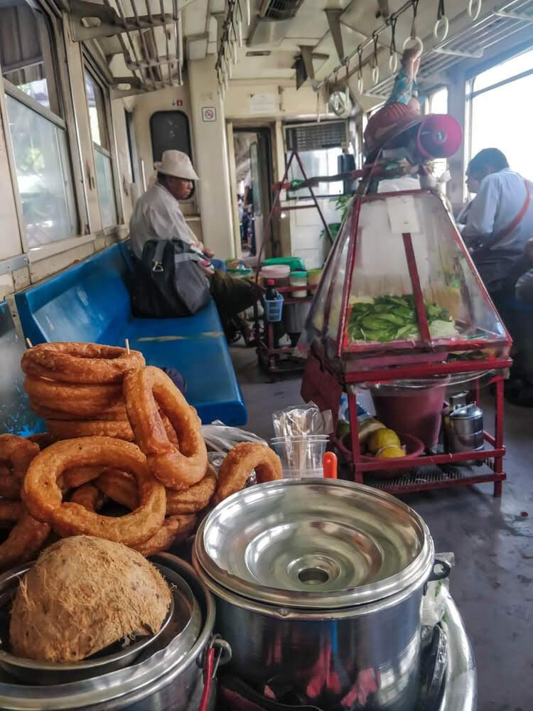 snacks on yangon circle line