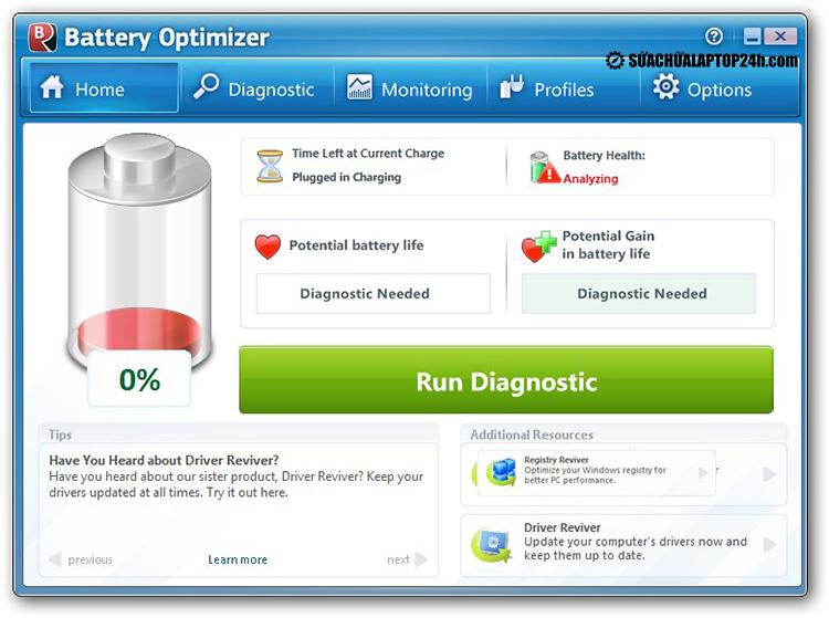 Phần mềm Battery Optimizer