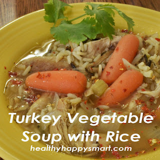Turkey Vegetable Soup with Rice.