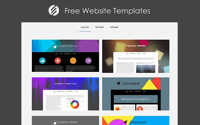 free website templates chrome web store