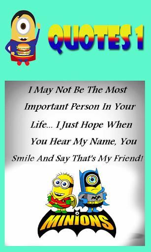 Mini Minion Quotes