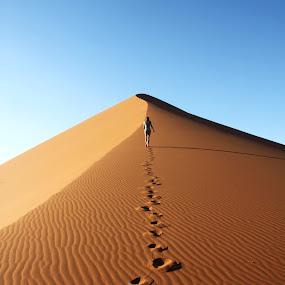 Footprints by Maurice Schutgens - Landscapes Deserts ( desert )