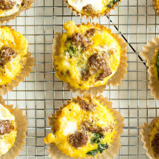 Sausage and Kale Make Ahead Egg Muffins.