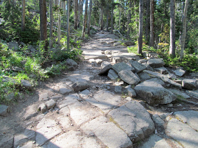 Trail climbing to Amethyst Basin